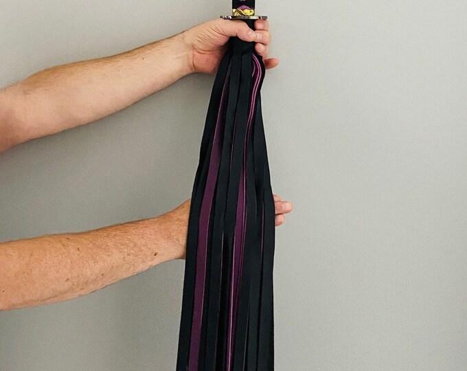 Black & Purple Katana Handled Flogger