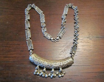 Turkish Necklace with Bib and Chain
