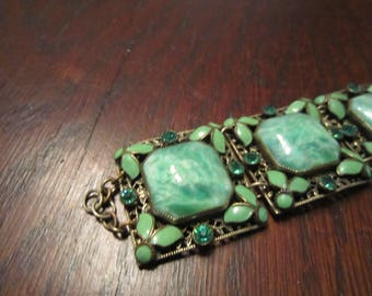 Neiger Brothers Bracelet with Brass, Enamel and Glass