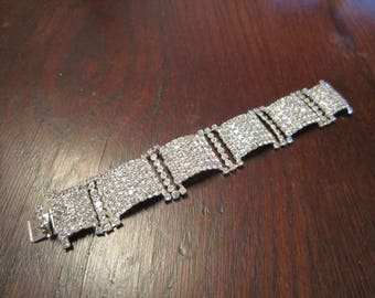 Bracelet with Pave Clear Rhinestones