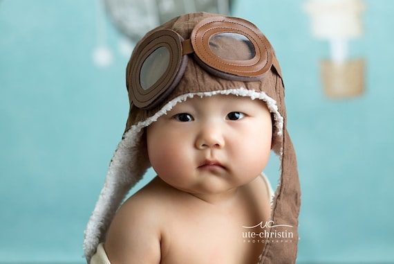 Baby Boy Toddler Aviator Hat UP movie prop pilot hat bomber  3ae875eda97