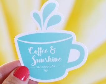 Coffee & Sunshine Sticker, 3X3