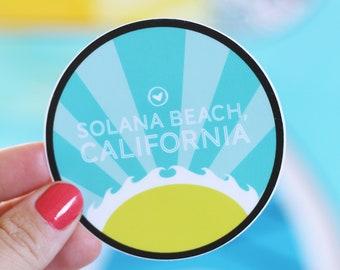 Solana Beach Sun Sticker, 3X3