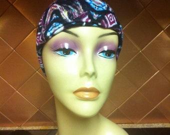 Tribal Print Headband Yoga Headband Boho Headband upcycled Hair Accessory   Wide Headband ebcd4e9e65a
