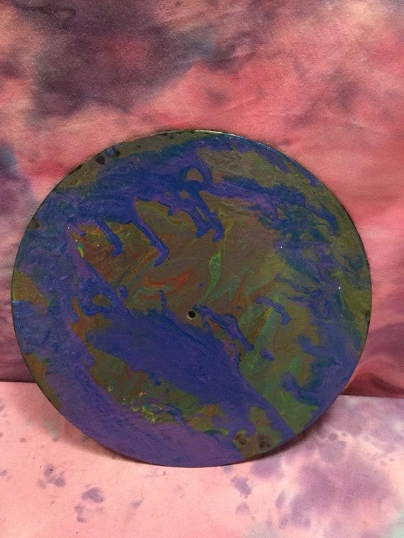Mère Terre Multi Couleur à La Main Peint Cercle Art Acrylique Etsy