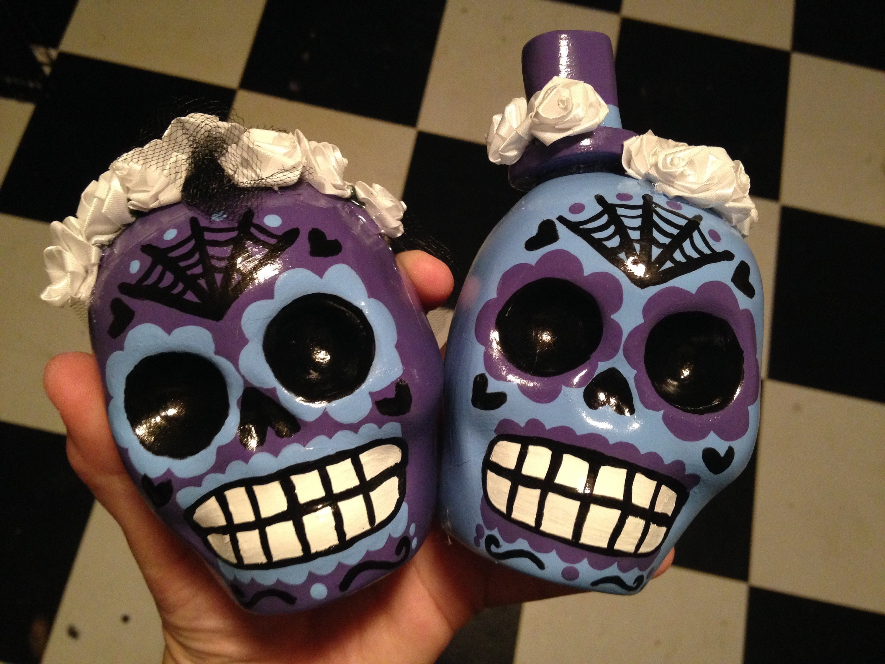 Sugar Skull Wedding Cake Toppers Custom 4 Inch Tall ...