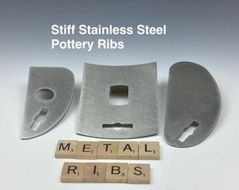 Pottery Rib Metal Ceramic Rigid Unflexible Shaping Pottery Tool Rib Free Shipping with Wing Nut Tool