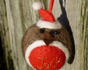 Dolls & Bears 8 X Sweet Christmas Baubles Dwarfs Needle Felted Miniature Beautiful Gift #1 Bears