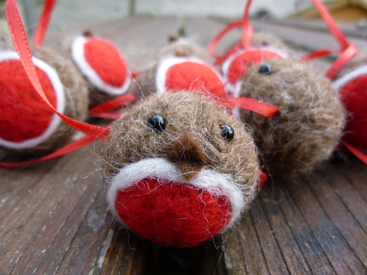 Robin Christmas Garland Needle Felted Christmas Decoration ...
