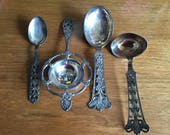 4 Piece Magnus Aase Norwegian 830 Silver Serving Pieces, Pattern M1A3