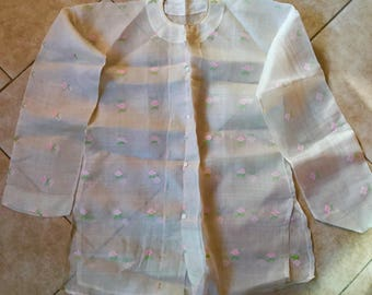 Antique Late Qing Period Chinese Peasant Shirt, Silk