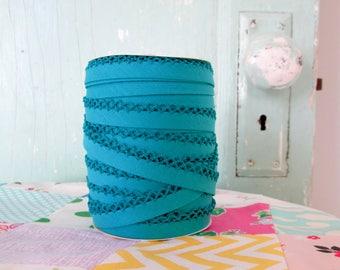 Topaz Crochet Edge Double Fold Bias Tape  (No. 60)