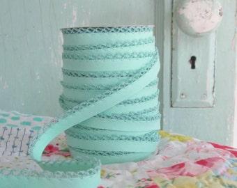 Mermaid Crochet Edge Double Fold Bias Tape  (No. 56)