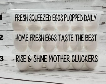 Fast shipping!Funny Egg Container Egg Storage Organization Fridge Storage Chicken Coop Reusable Plastic Egg Cartons. Holds 12 eggs Stackable