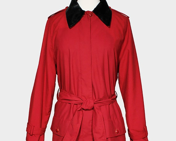 Sonia Rykiel Vintage 1980s Trench Coat Wine Red Po