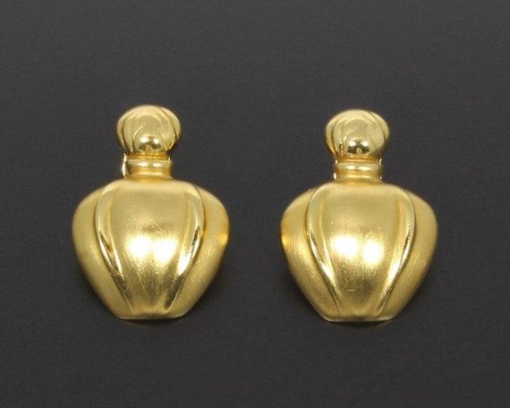 Christian Dior Paris Vintage 1980s Poison Clip On Earrings