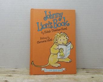 Little Johnny Lions Book, 1965, Edith Thacher Hurd, Clement Hurd, vintage kids book