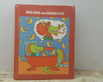 Dreams and Dragons, 1979, Vintage School book, text book, vintage kids book