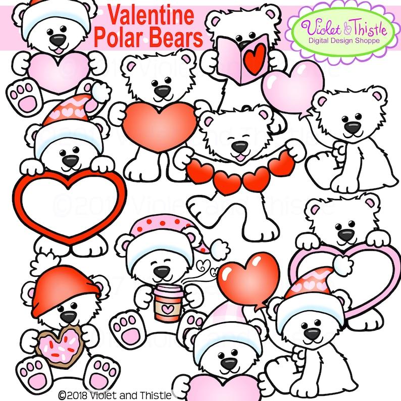 Polar Bear Clipart Polar Bear Valentine Clipart Valentine
