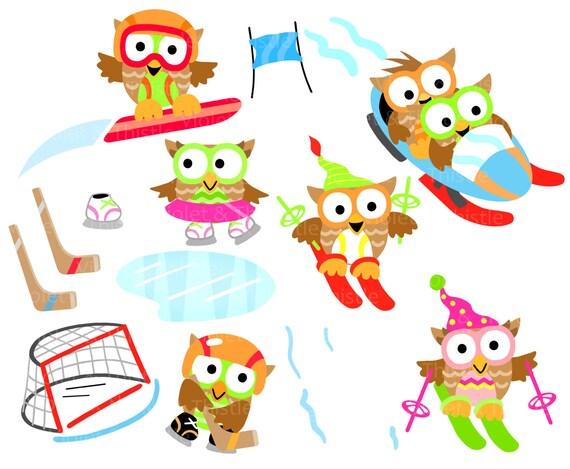 seasons owl clipart clip art buy 3 get 1 free sale winter etsy rh etsy com seasons clip art free printable season clipart