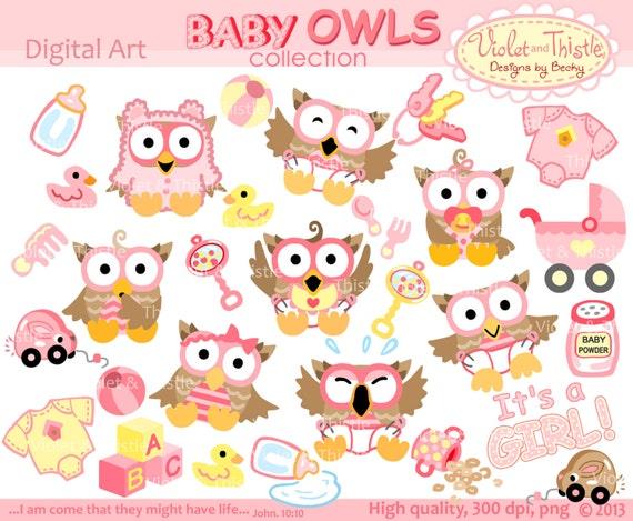 Baby Eulen Clip Art Clipart Digital Clipart Baby Girl