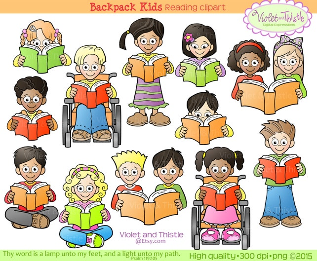 kids reading clipart kids clip art children reading school etsy rh etsy com printable clipart for after school program printable clip art for spring