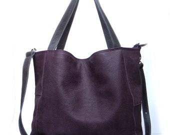 0baf7e38c647 Purple leather bag | Etsy