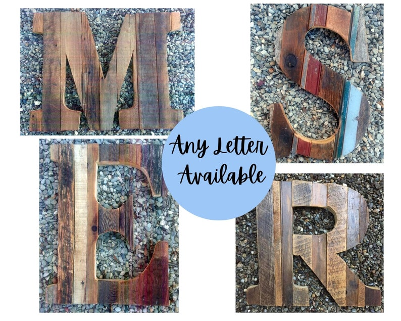 Relcaimed Wood Letters image 0