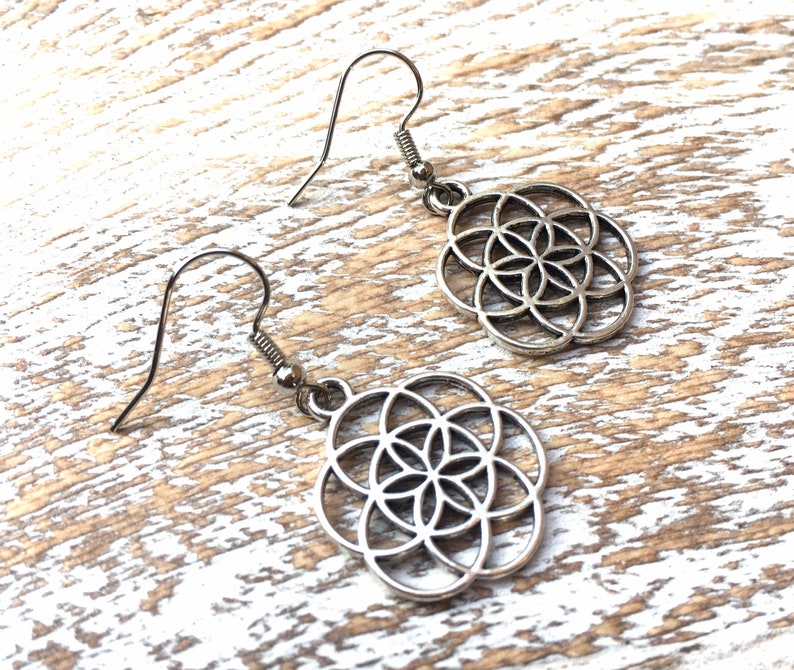 Free Shipping Plethora Gifts handmade SILVER CELTIC EARRINGS Drop Dangle Nickel Free