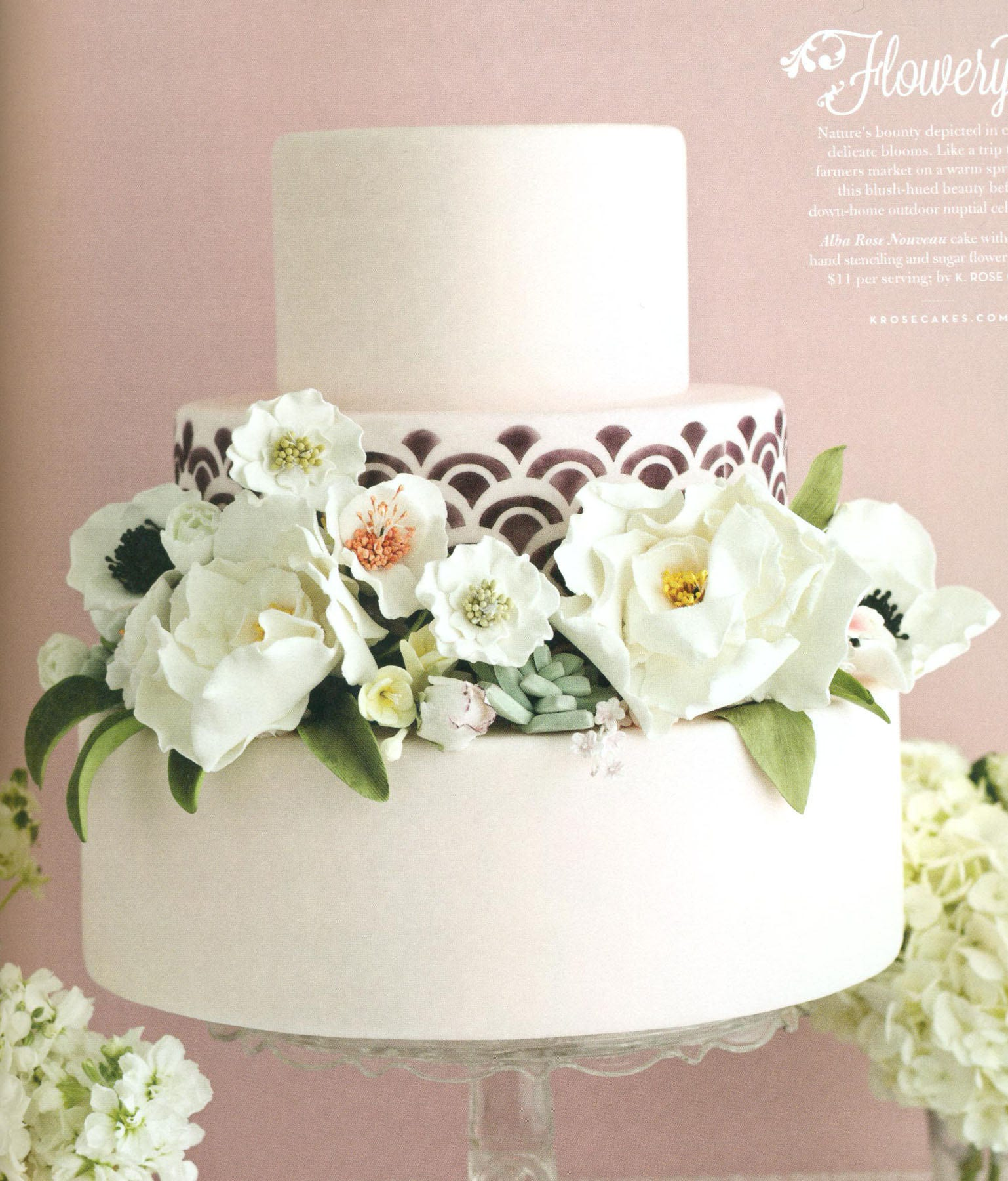 3 Tiered Faux Wedding Cake Art Deco Cake Photo Prop