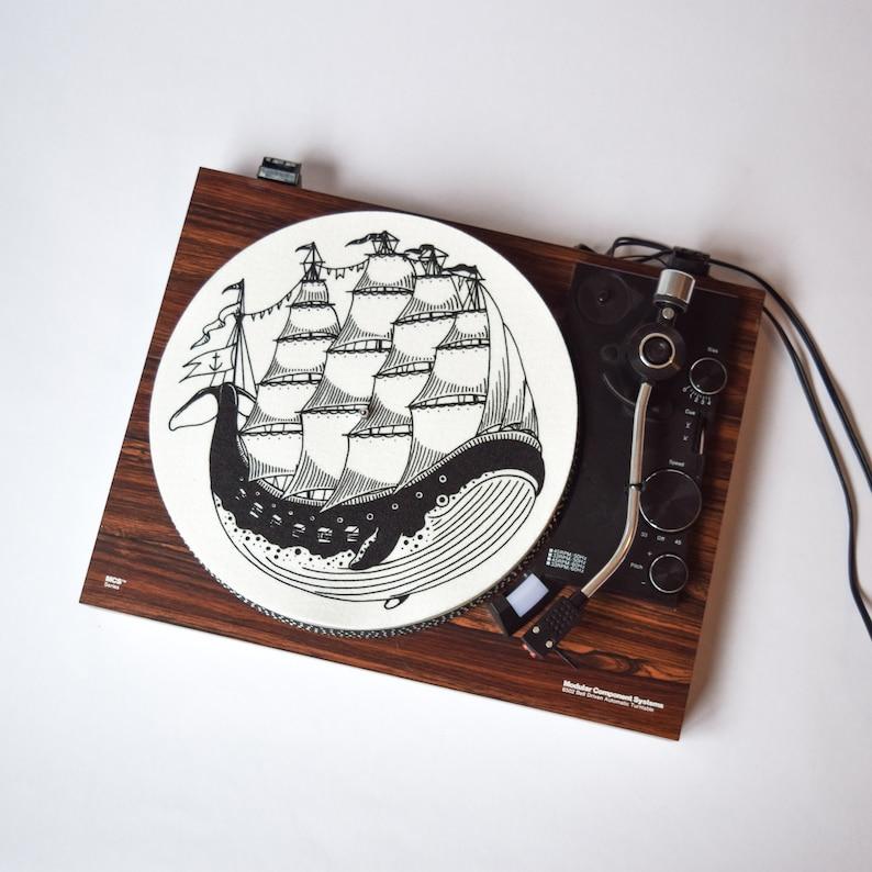 Turntable Slipmat: Whaleboat by Kyler Martz image 0