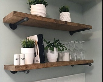 Bon Rustic Wood Shelf | Etsy
