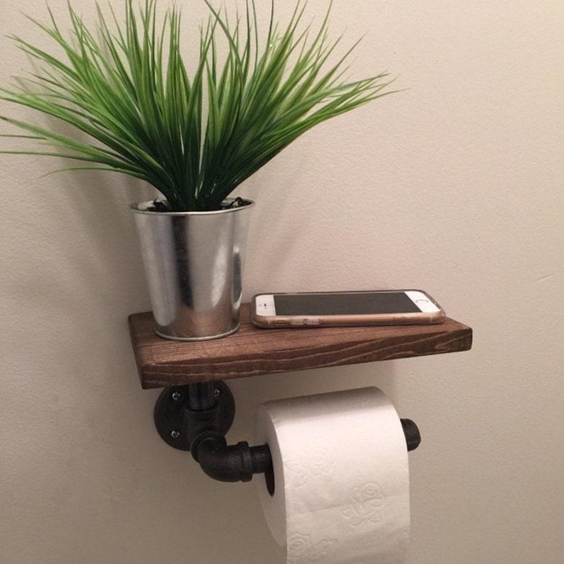 Porte papier toilette industriel avec étagère tuyau de   Etsy