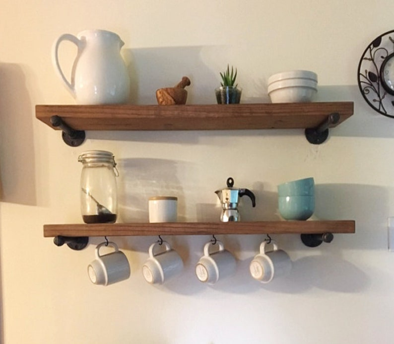 Cool Rustic Kitchen Coffee Bar Floating Shelf Industrial Wood Wall Pipe Shelf Farmhouse Pinewood Modern Shelve Rustic She Shed Shelve Download Free Architecture Designs Rallybritishbridgeorg