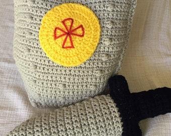 Crochet Sword and Shield