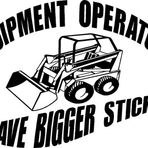 Excavator Operator K287 6 inch sticker backhoe decal