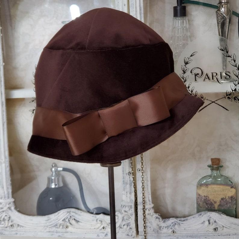 1930s Style Hats   Buy 30s Ladies Hats Vintage Style Hat Cloche Hat Downton Abbey Hat Womens Hat Velvet Hat Winter Hat Gatsby Style Hat $99.95 AT vintagedancer.com