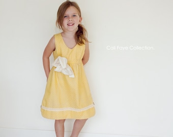 The Sunny Mae Sundress PDF pattern and tutorial - sizes 2t - 10, childrens sewing PATTERN - Instant download