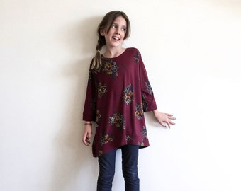 Primrose Pullover, GIRLS PDF pattern and tutorial - sizes 2t-10, sewing pattern - instant download