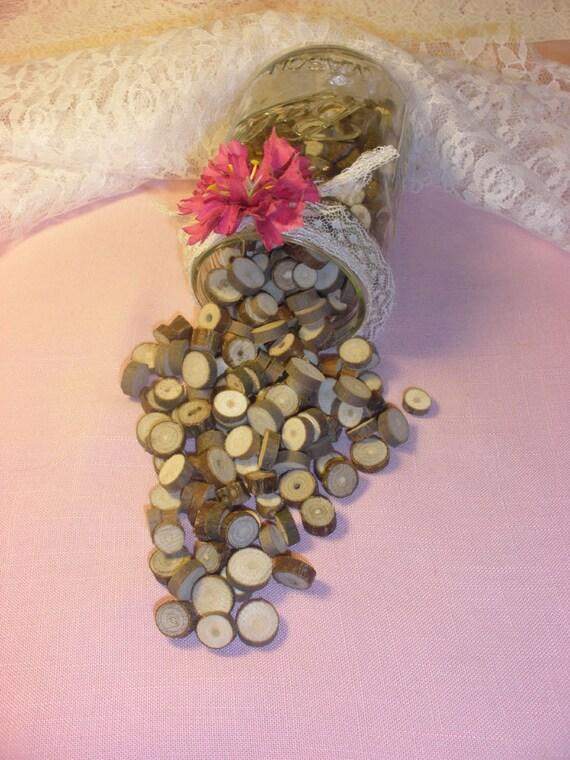 Rustic Wedding Vase Filler Table Scatter Confetti Tree Etsy
