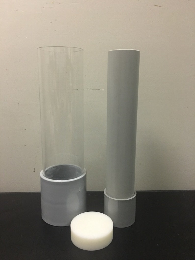 Acrylic Cylinder Soap Mold: Round bars vertical linerless image 0
