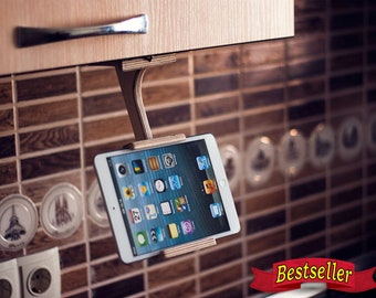 Wood tablet stand Kitchen Dock station Tablet holder Wood cookbook stand Unique gift Ideas Kitchen accessories Trending Kitchen stat TreeSky
