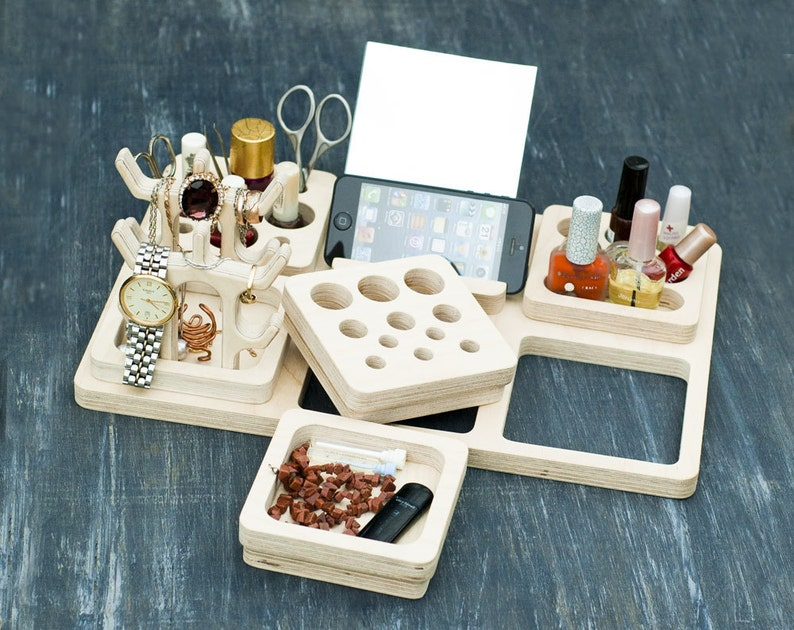 Organization Ideas Beauty Station Makeup Organizer Makeup Etsy