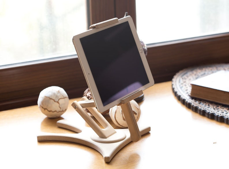 Tablet houder ipad stand keuken tablet stand hout etsy