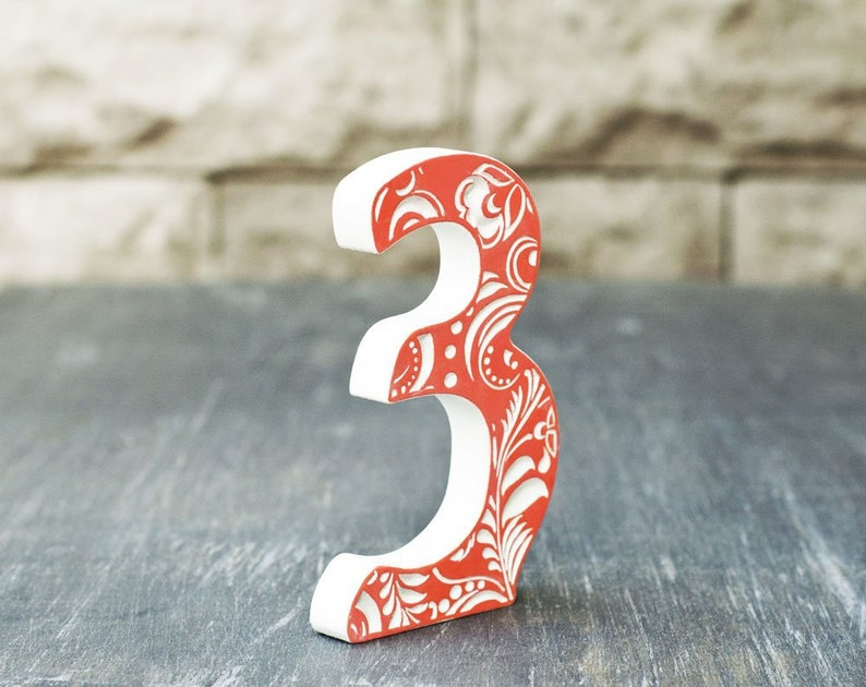 3 Sign Photo Orange Wooden Number 3 Wood Anniversary Decorations Third Birthday Photo Shoot For Kids Wooden Number 3 Sign Number Three Sign