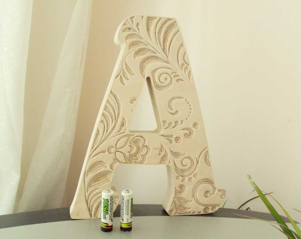 Large wooden letters 10 inches for Personalized family gift
