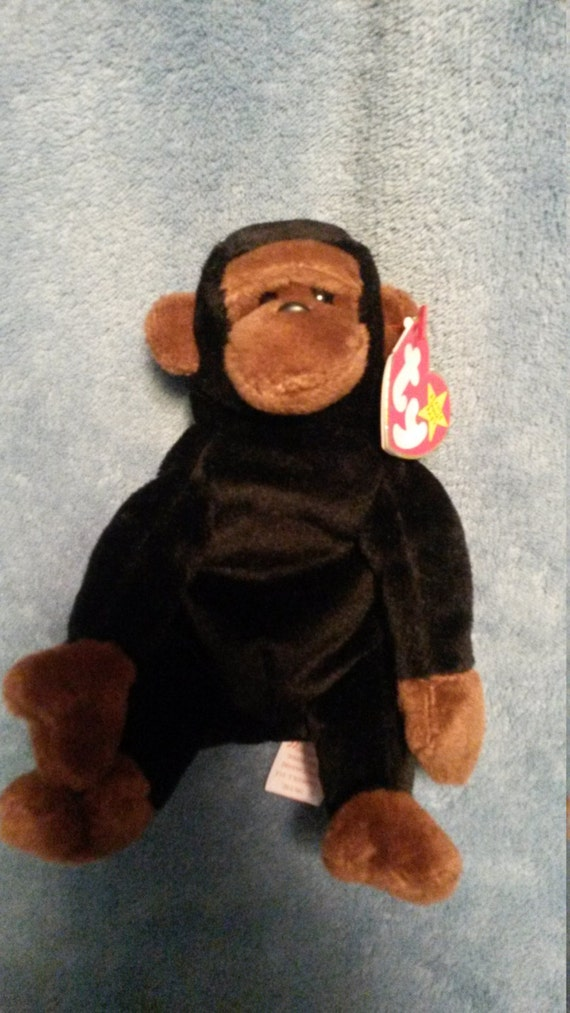0a1514b7e1e 1996 TY Congo Beanie Baby Monkey made with PE pellets