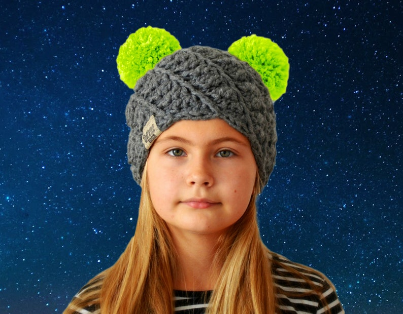 ee6fe8416322d Chunky knitted winter hat with two pom poms   You can be a