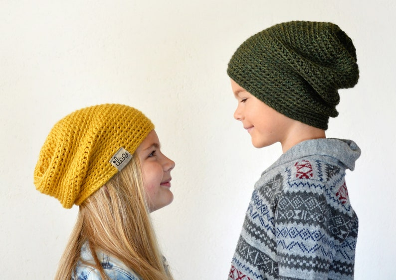 6aa30b6b759 Slouchy crochet   knitted beanie 38 COLORS mommy and me