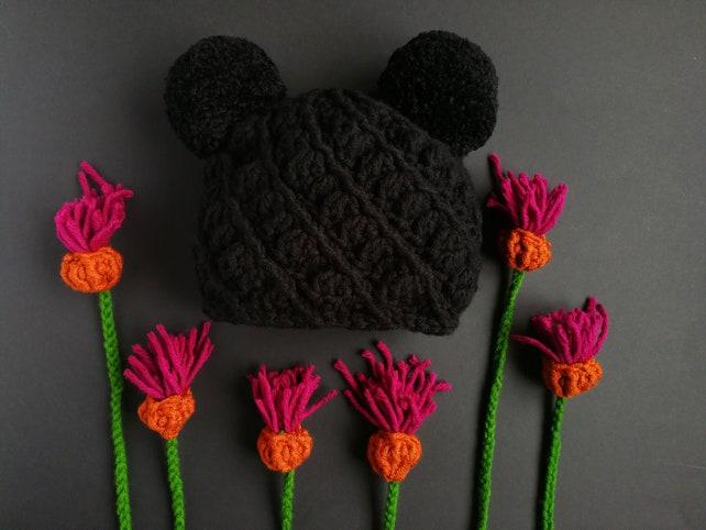 Doppelt outfits Pom Pom Mütze mickey mouse Ohren Minnie Maus | Etsy